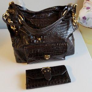 Big Buddha handbag large size with wallet.